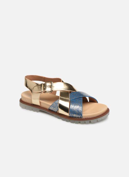 Sandales et nu-pieds Vanessa Wu SD1254 Or et bronze vue détail/paire
