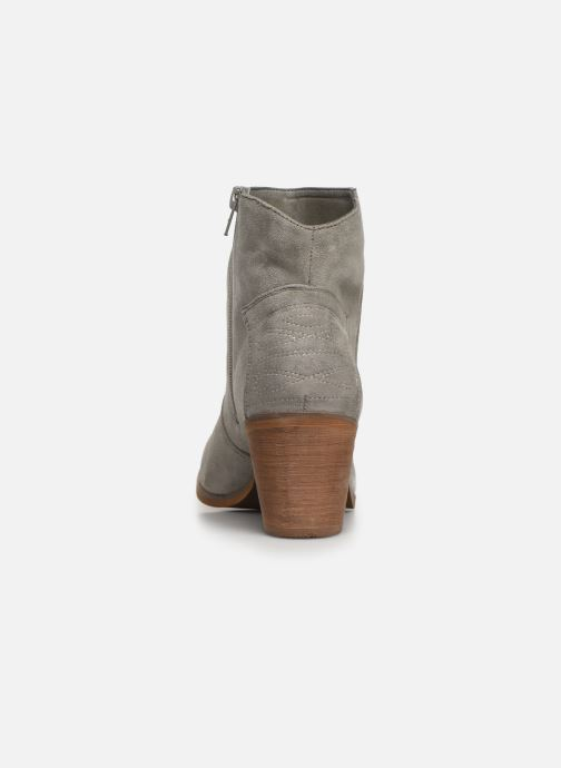 Ankle boots Vanessa Wu BT1607 Grey view from the right