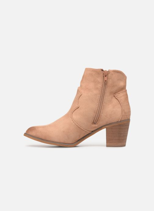 Bottines et boots Vanessa Wu BT1607 Beige vue face