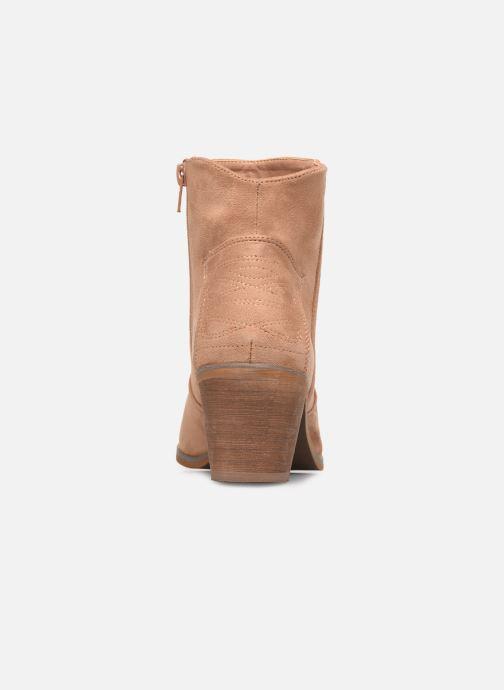 Bottines et boots Vanessa Wu BT1607 Beige vue droite
