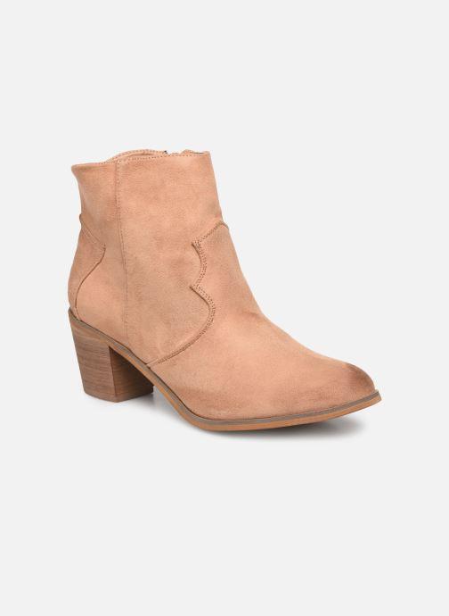 Bottines et boots Vanessa Wu BT1607 Beige vue détail/paire