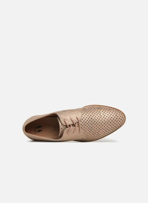 Chaussures à lacets Vanessa Wu RL1753 Rose vue gauche