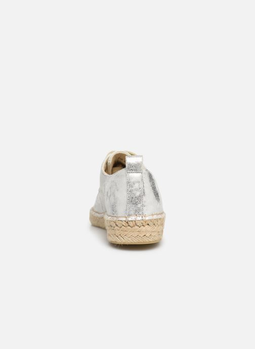 Espadrilles Vanessa Wu BK1533 Silver view from the right