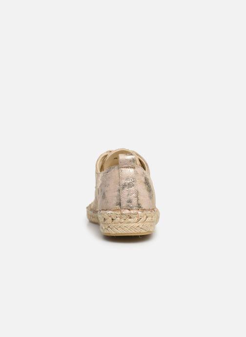 Espadrilles Vanessa Wu BK1533 Goud en brons rechts