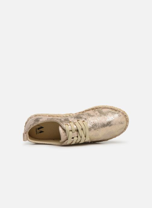 Espadrilles Vanessa Wu BK1533 Bronze and Gold view from the left