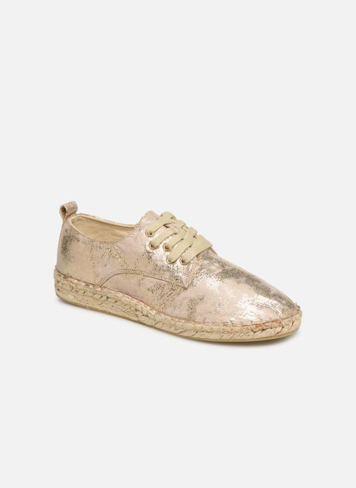 Espadrilles Vanessa Wu BK1533 Bronze and Gold detailed view/ Pair view