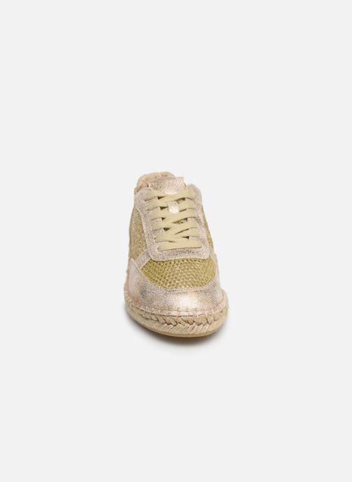 Scarpe di corda Vanessa Wu BK1569 Oro e bronzo modello indossato