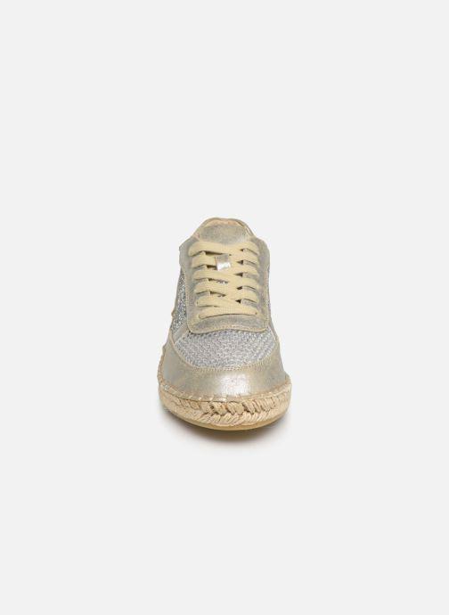 Espadrilles Vanessa Wu BK1569 Argent vue portées chaussures