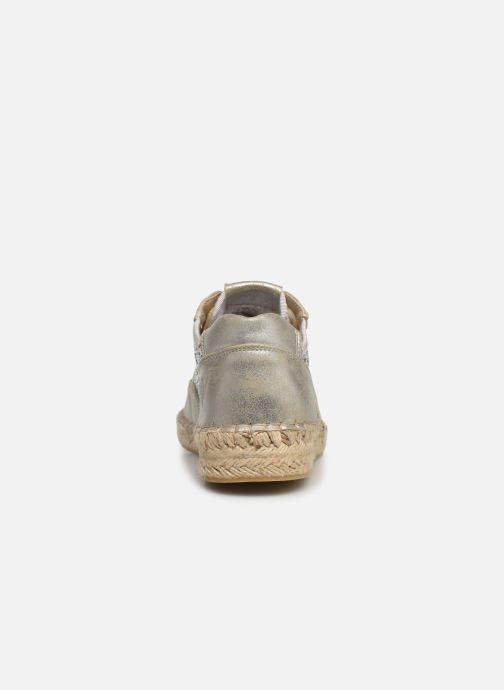 Espadrilles Vanessa Wu BK1569 Silver view from the right