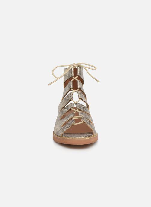 Sandales et nu-pieds Vanessa Wu SD1536 Or et bronze vue portées chaussures