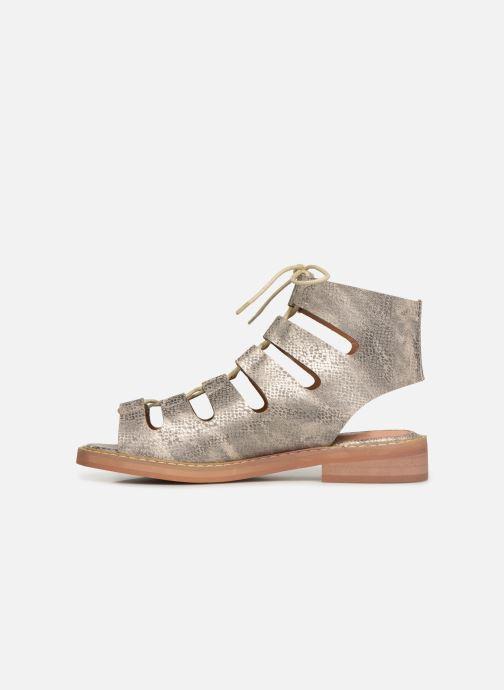 Sandales et nu-pieds Vanessa Wu SD1536 Or et bronze vue face