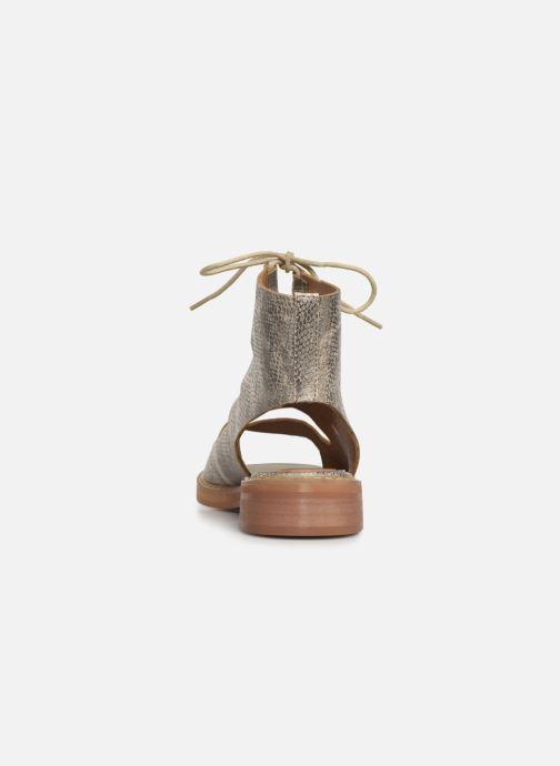 Sandales et nu-pieds Vanessa Wu SD1536 Or et bronze vue droite