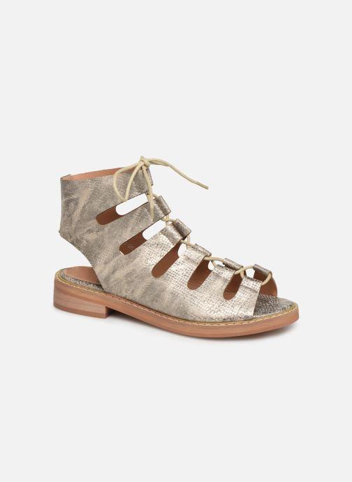 Sandales et nu-pieds Vanessa Wu SD1536 Or et bronze vue détail/paire