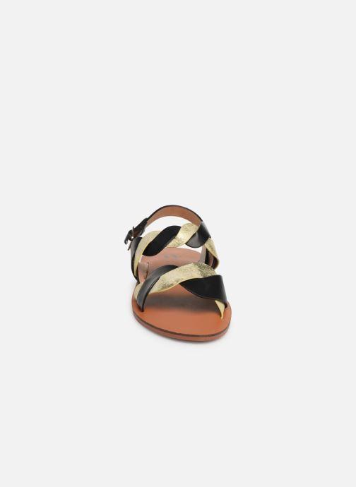Sandales et nu-pieds Vanessa Wu SD1721 Noir vue portées chaussures
