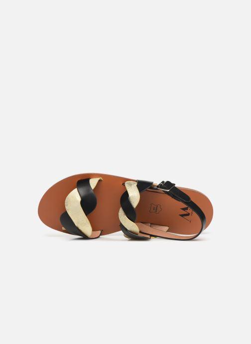 Sandaler Vanessa Wu SD1721 Svart bild från vänster sidan