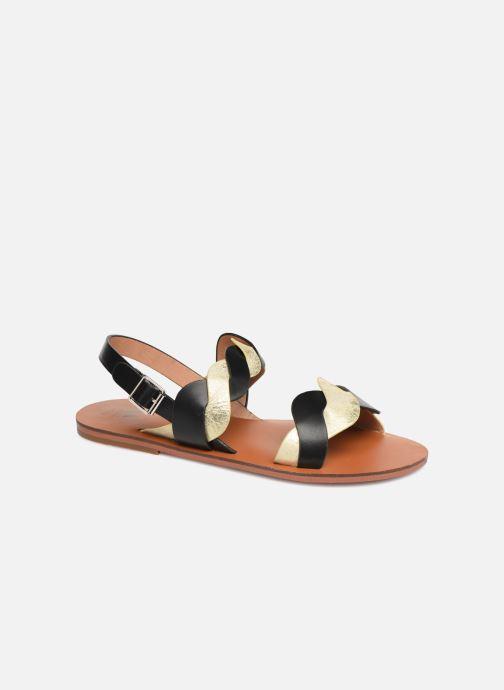 Sandales et nu-pieds Vanessa Wu SD1721 Noir vue détail/paire