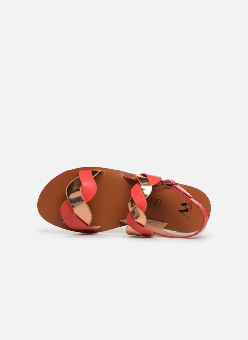 Sandales et nu-pieds Vanessa Wu SD1721 Rose vue gauche
