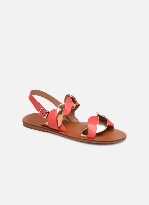 Sandales et nu-pieds Vanessa Wu SD1721 Rose vue détail/paire
