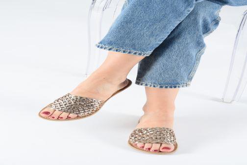 Mules et sabots I Love Shoes KITRESSE LEATHER Or et bronze vue bas / vue portée sac