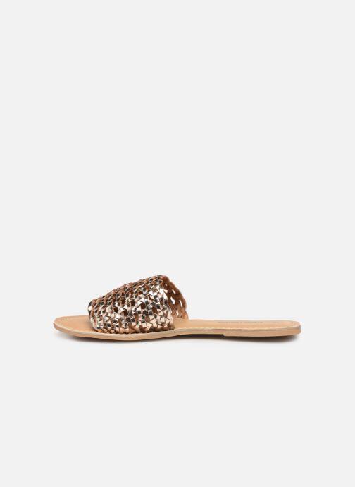 Mules et sabots I Love Shoes KITRESSE LEATHER Or et bronze vue face
