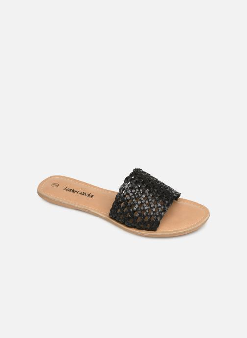 Clogs og træsko I Love Shoes KITRESSE LEATHER Sort detaljeret billede af skoene