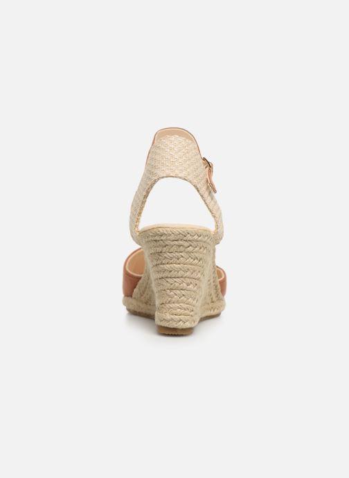 Alpargatas I Love Shoes KIDESPA Marrón vista lateral derecha