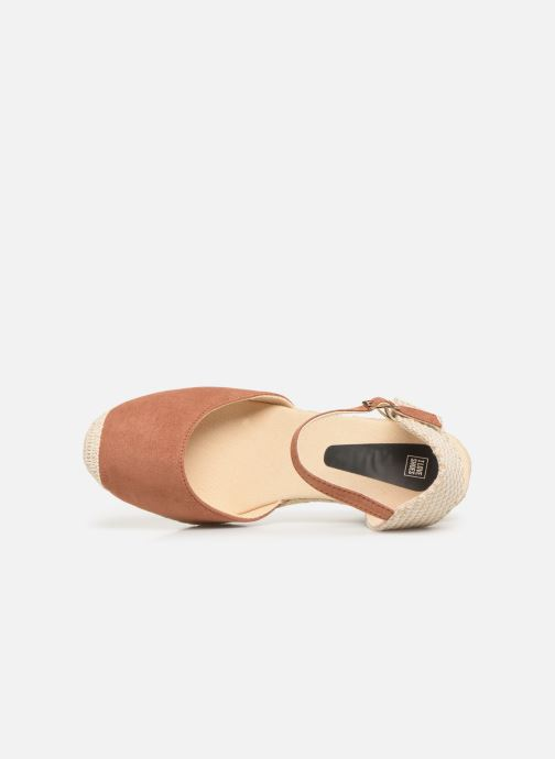 Alpargatas I Love Shoes KIDESPA Marrón vista lateral izquierda