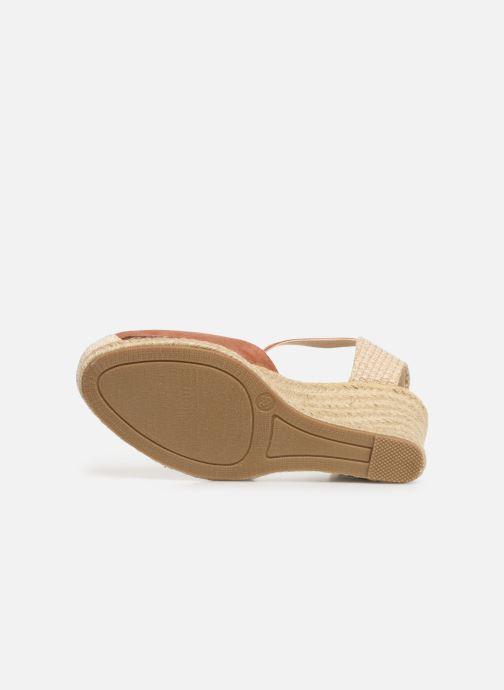 Alpargatas I Love Shoes KIDESPA Marrón vista de arriba
