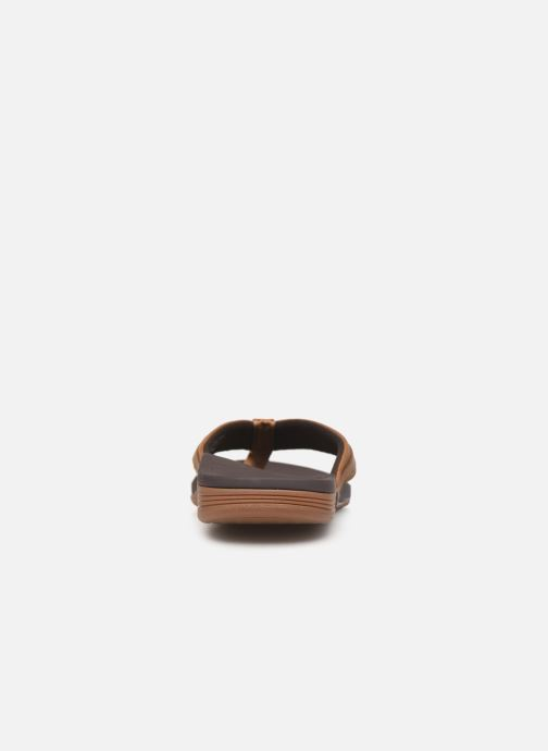 Chanclas Reef Leather Ortho-Spring Marrón vista lateral derecha