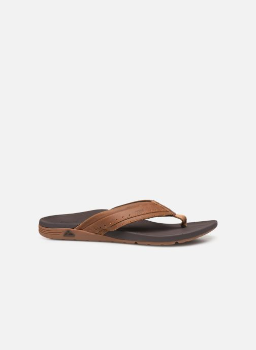 Chanclas Reef Leather Ortho-Spring Marrón vistra trasera