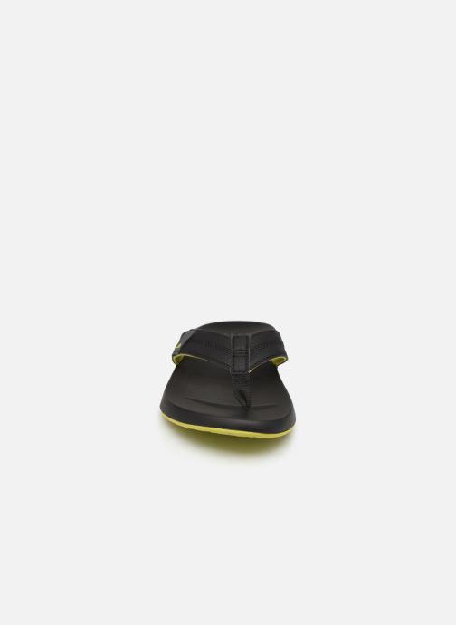 Tongs Reef Cushion Bounce Phantom Gris vue portées chaussures