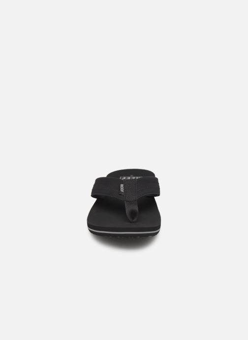 Tongs Reef Twinpin Lux Noir vue portées chaussures