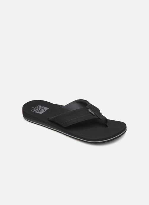 Flip flops & klipklapper Reef Twinpin Lux Sort detaljeret billede af skoene