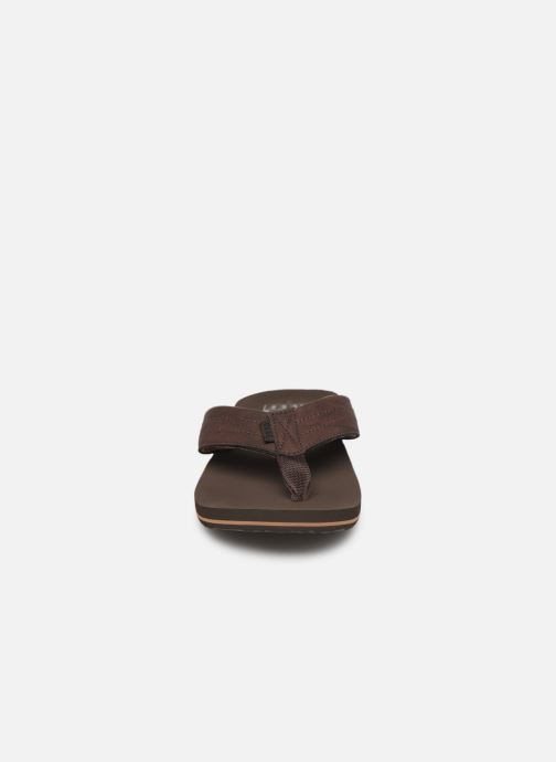 Tongs Reef Twinpin Lux Marron vue portées chaussures