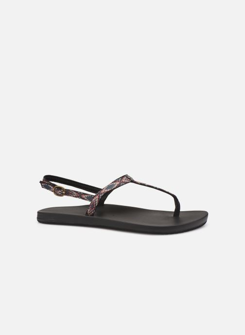 Sandalias Reef Cushion Bounce Slim T Negro vistra trasera