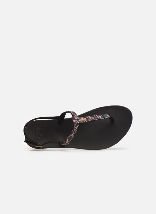 Sandalias Reef Cushion Bounce Slim T Negro vista lateral izquierda