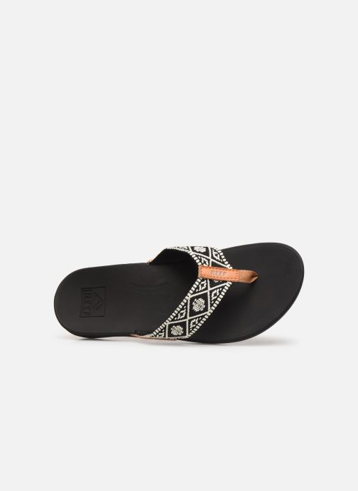 Chanclas Reef Reef Ortho-Bounce Woven Negro vista lateral izquierda