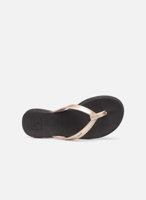 Chanclas Reef Reef Rover Catch Oro y bronce vista lateral izquierda