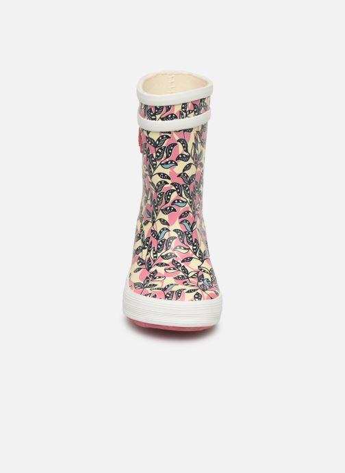 Bottes Aigle Baby Flac Glit Rose vue portées chaussures