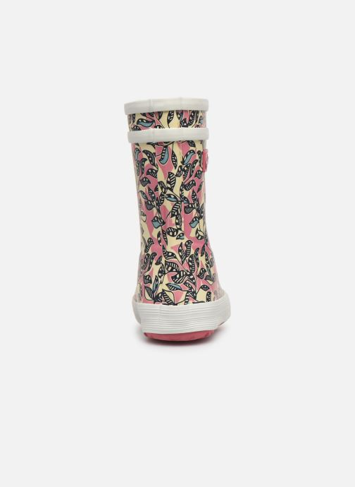 Boots & wellies Aigle Baby Flac Glit Pink view from the right