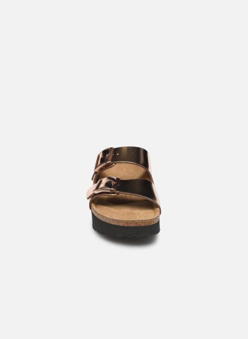 Mules et sabots Papillio Arizona Cuir W Rose vue portées chaussures