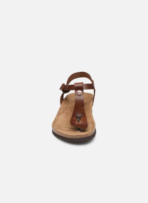 Sandales et nu-pieds Papillio Ashley Cuir W Marron vue portées chaussures
