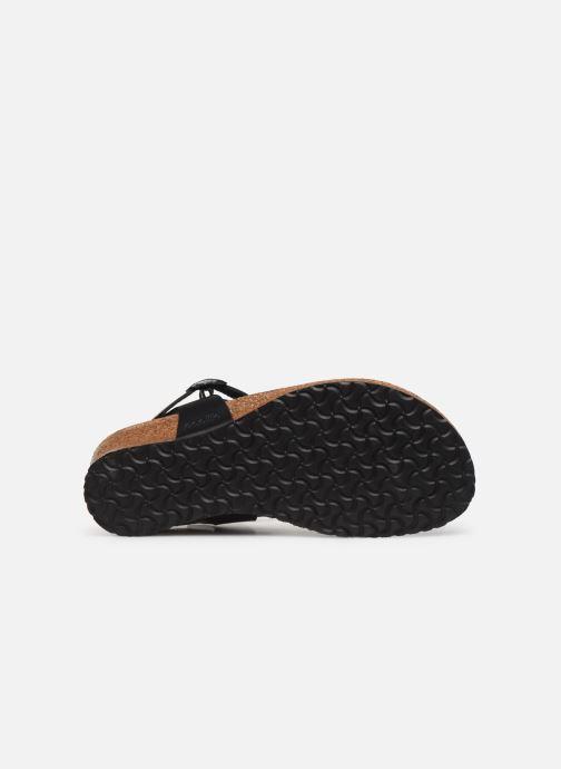Sandalen Papillio Ashley Cuir W schwarz ansicht von oben
