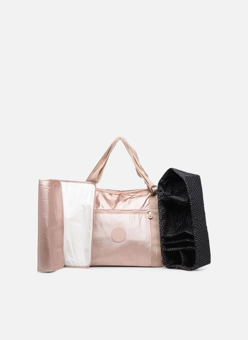 Handtaschen kipling Little Pumpkin rosa ansicht von links
