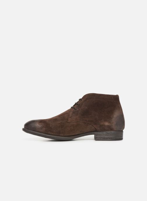 Ankle boots I Love Shoes THAIRPLANE LEATHER Brown front view