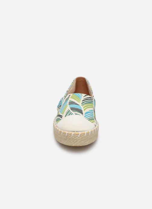 Espadrilles Pataugas Pataya C Vert vue portées chaussures