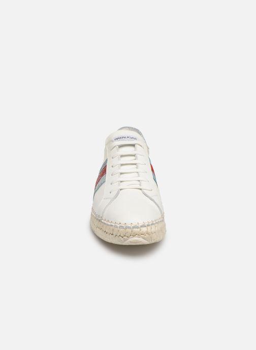Espadrilles Pataugas Marbella F2E C Blanc vue portées chaussures