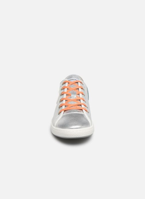 Baskets Pataugas Janis/Argent C Argent vue portées chaussures