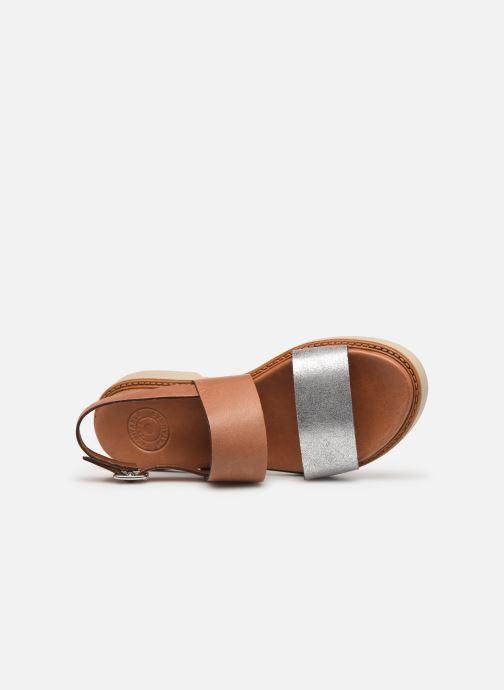 Sandales et nu-pieds Pataugas Line C Marron vue gauche