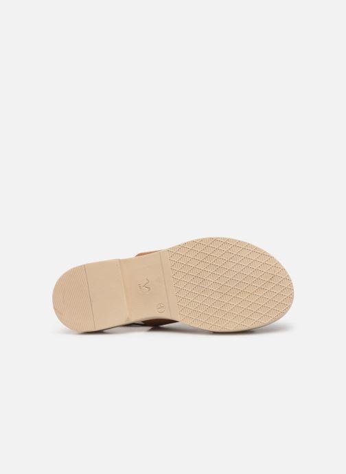 Sandales et nu-pieds Pataugas Line C Marron vue haut